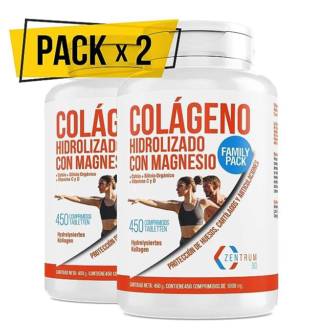 Colágeno hidrolizado con calcio para huesos y articulaciones – Colágeno con vitamina C y vitamina D para ayudar a la energía del día a día - 900 ...