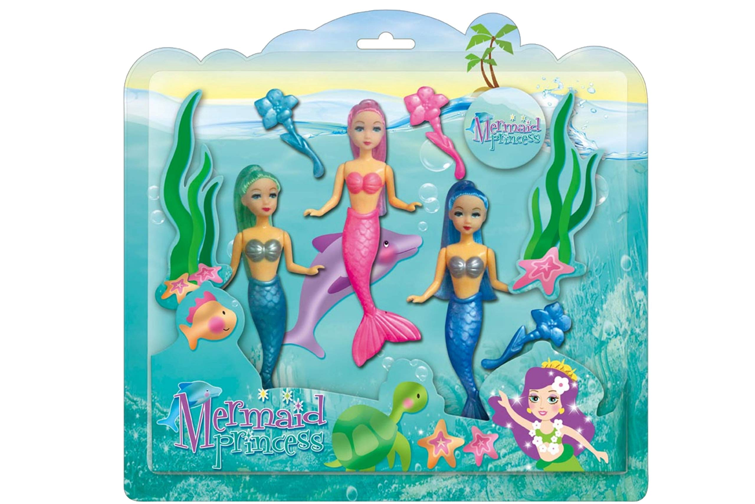 KandyToys Mermaid Princess Dolls (3 in a pack)