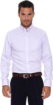 Pedro del Hierro Camisa Non Iron Morado S: Amazon.es: Ropa y accesorios