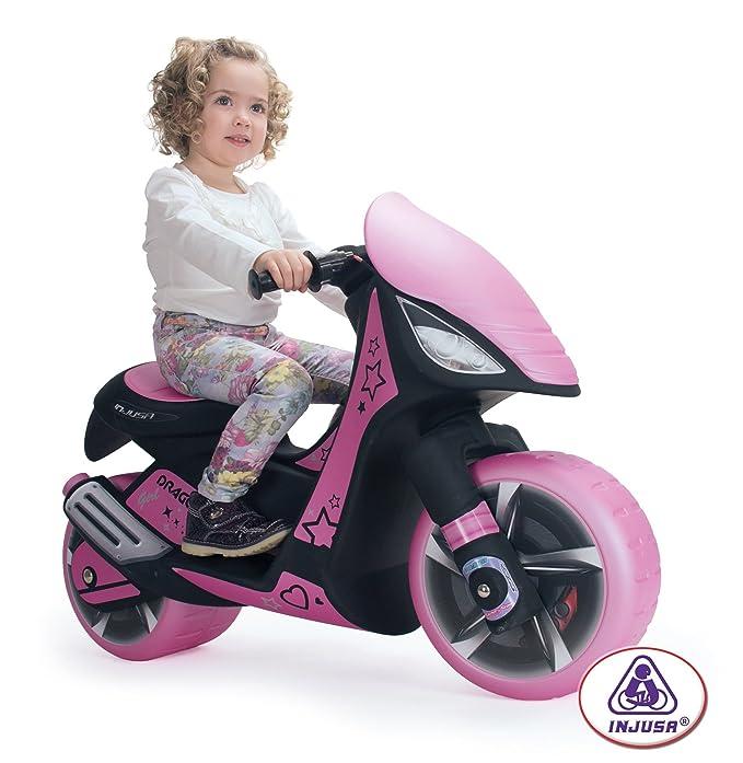 INJUSA - Moto Dragon Girl para niñas a Partir de 3 años, batería de 6V, Rosa (6872)