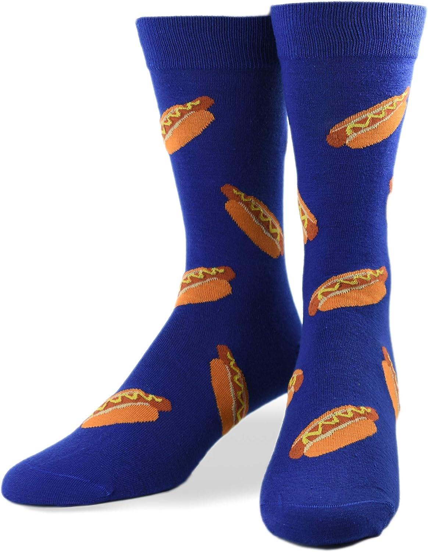 Crazy Socks, Unisex, Food, Beer Wine Tacos Hot Sauce, Crew Socks, Novelty Funny