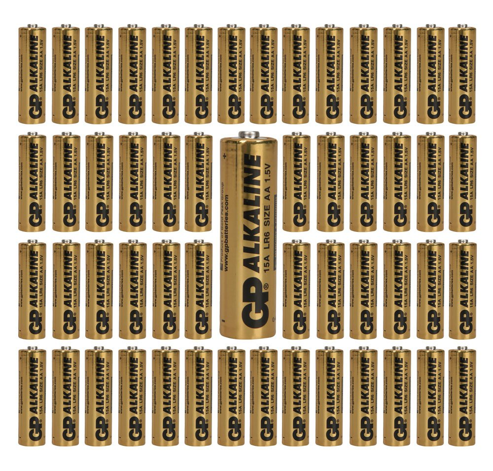 (1152-Pack) GP Size AA Batteries Alkaline 1.5V LR6 BULK Wholesale Lot 2019