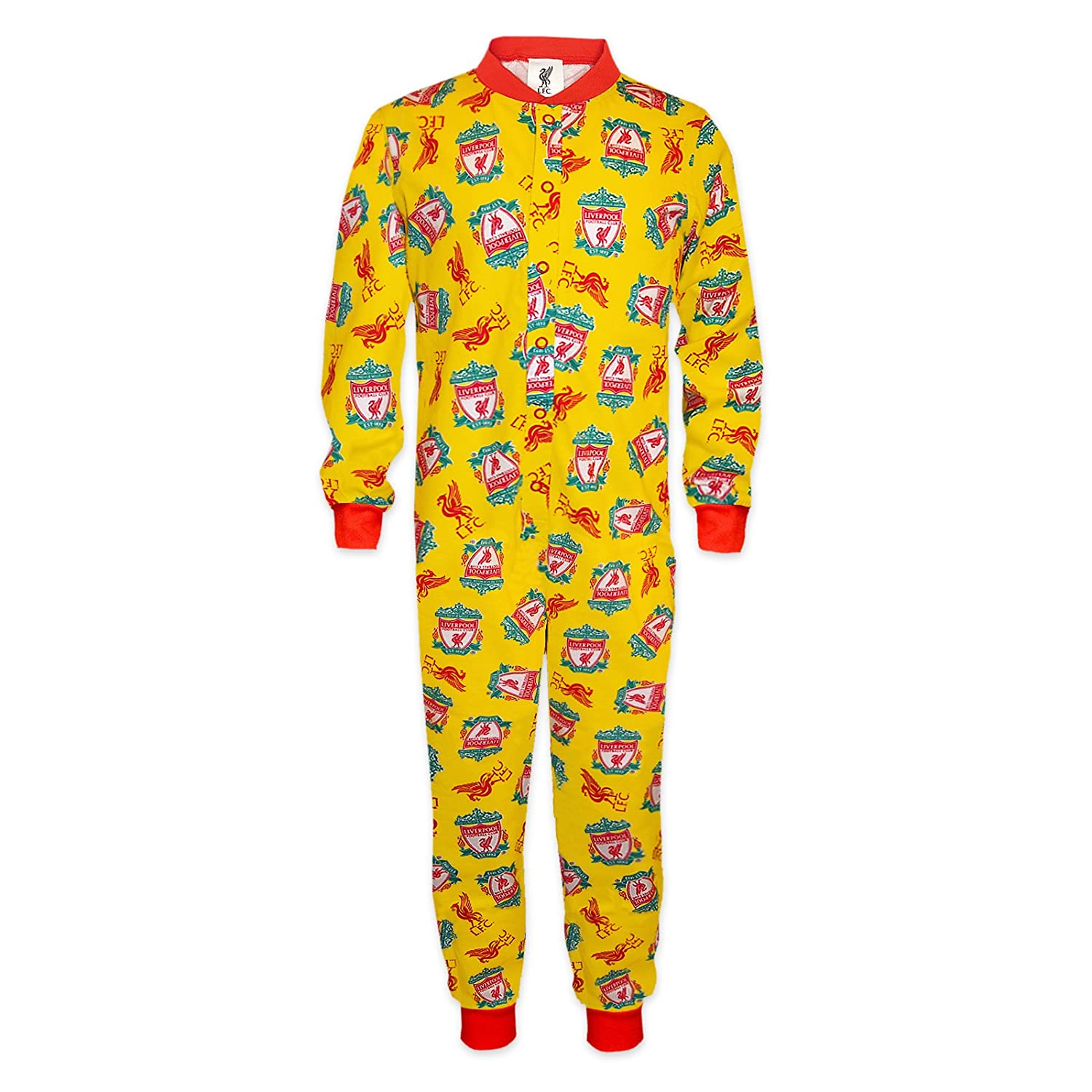 Liverpool FC Official Football Gift Boys Kids Pyjama All-In-One