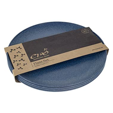 EVO Sustainable Goods 10  Plate, Set of Four, Blue