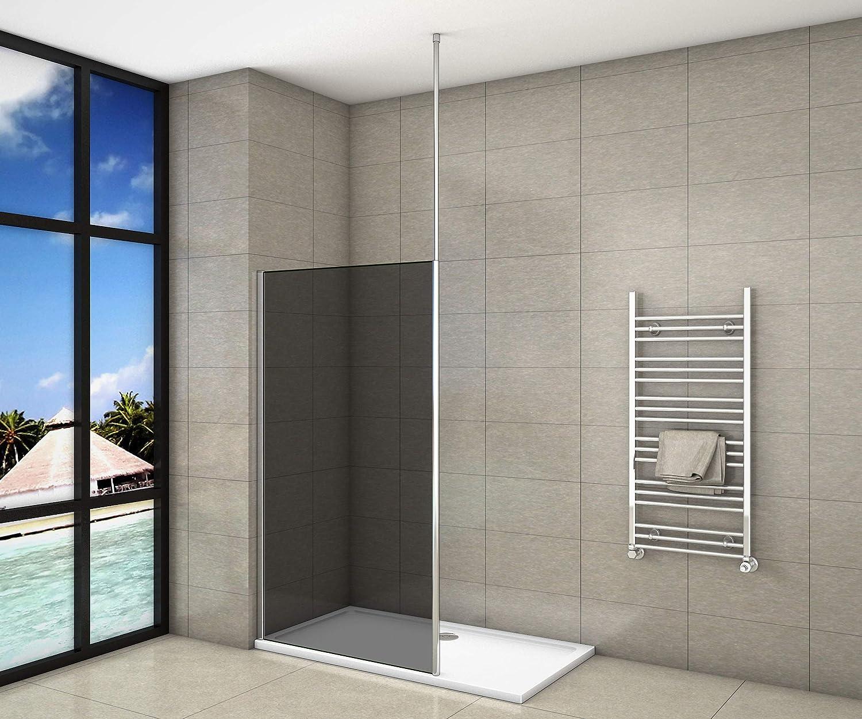 Mampara de ducha de 8 mm, cristal antical y arenado y viene con ...