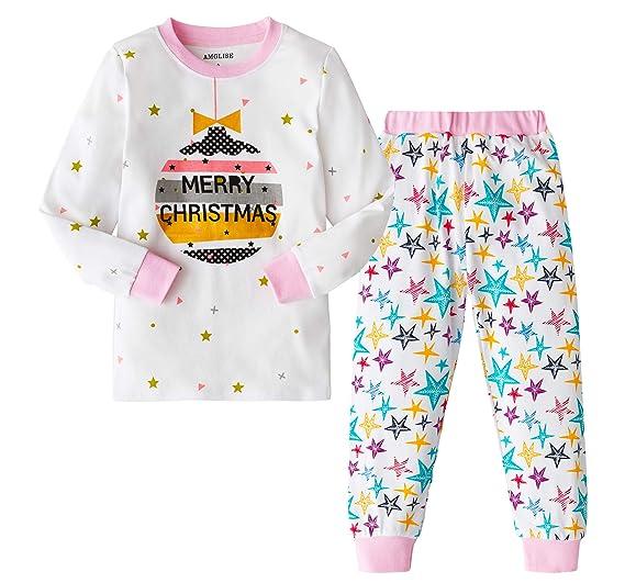 amglise christmas pajamas set christmas balls cotton pajamas for boys girls kids pjs toddler sleepwear 2t
