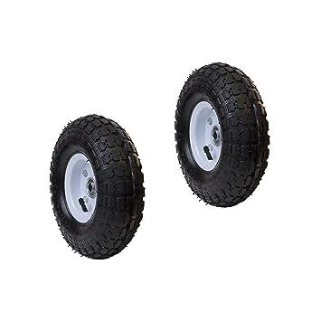 ALEKO 2 wap10 Césped neumático de repuesto ruedas para carretilla 10 cm llenos de aire césped