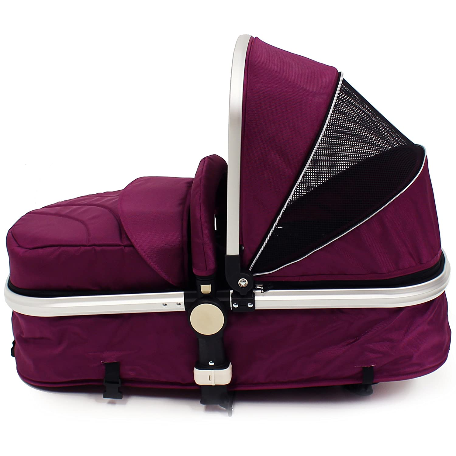 Rain Covers i-Safe System Plum Trio Travel System Pram /& Luxury Stroller 3 in 1 Complete With Car Seat