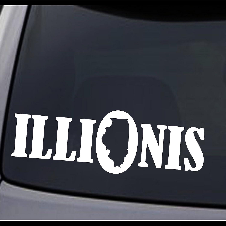 (2x) Illinois State Map IL Home State I Love IL USA Pride Vinyl Decal Sticker 12