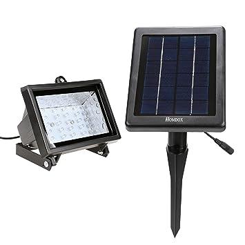 Homdox 30LED Spotlight Solar Powered Outdoor Light Night Secure Guard For  Home Garden Pond Lawn Christmas