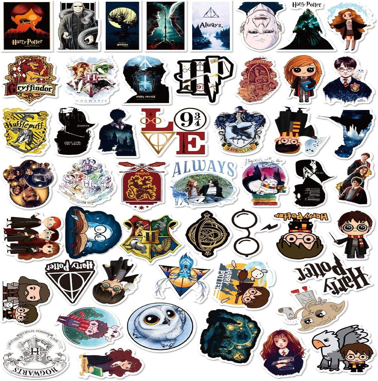 Huayao 50st Harry Potter Aufkleber Stickers Laptop Sticker Computer Schlafzimmer Kleiderschrank Auto Skateboard Motorrad Fahrrad Handy Gepäck Gitarre Diy Aufkleber Für Jugendliche Auto