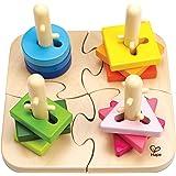 Hape E0411 - Puzzle En Bois - Boutons Créatif