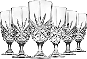 Godinger Iced Tea Beverage Glasses Cups, Dublin - 16 oz, Set of 6