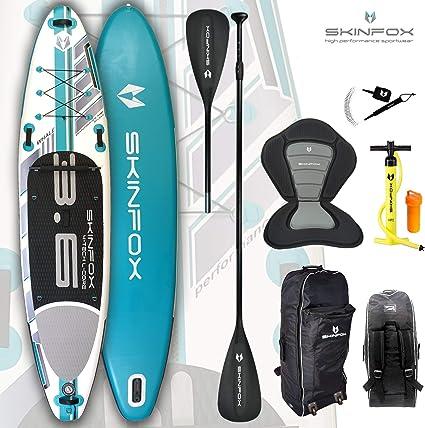 SKINFOX Whale 4-TECH L-Core SUP - Tabla de surf de remo (aluminio, 365 x 82 x 15 cm)