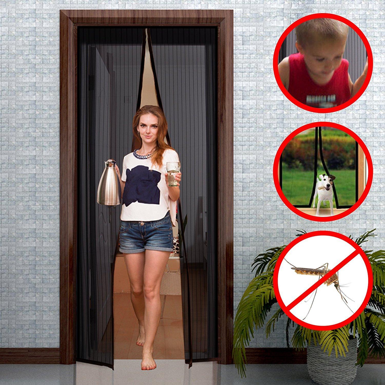 gimars fliegengitter t r insektenschutz 90x210 cm 110x220 cm ebay. Black Bedroom Furniture Sets. Home Design Ideas