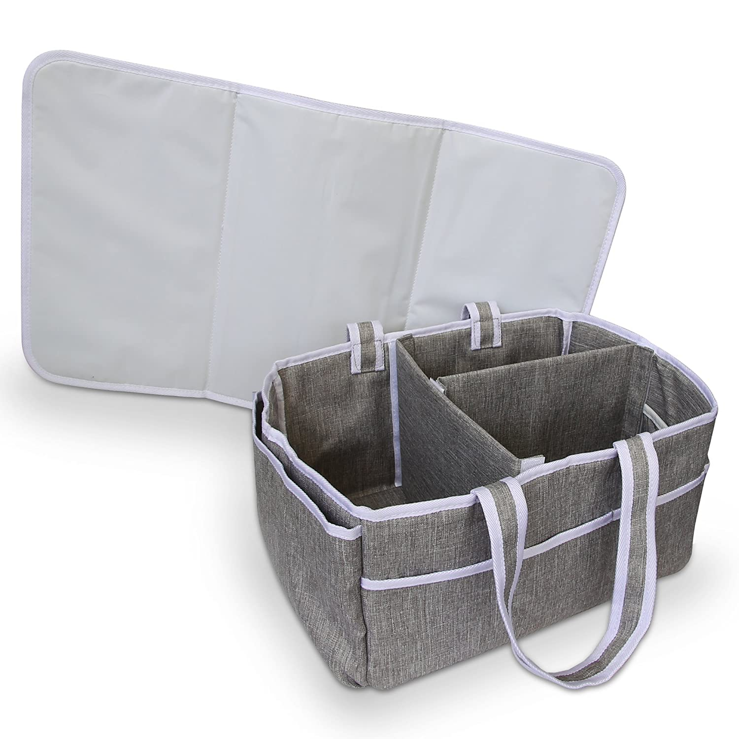 Bellizzi Diaper Caddy and Changing Mat for a Easy, Stress-free Baby Nappy Change - Portable Organizer for Your Changing Table and Nursery Virtual Stores