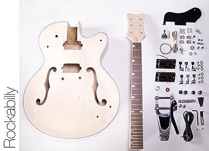 amazon com diy electric guitar kit hollow body build your own rh amazon com