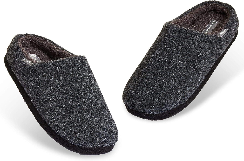 Taglia 41-46 Originali Babbucce Uomo Dunlop Ciabatte Uomo Ciabatta da Casa con Pelo Idea Regalo Compleanno Comode Pantofole Invernali Calde Memory Foam