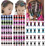 DeD 80pcs Mini Hair Claw Clips Glitter Hair Bangs Clips Hair Accessories for Baby Girl Kids Toddlers