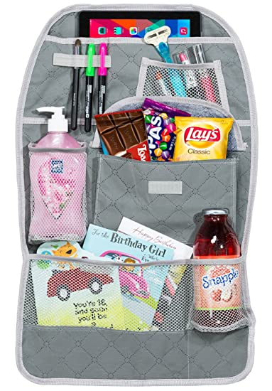 skarles backseat car organizer for driver kids and baby travel accessories storage made