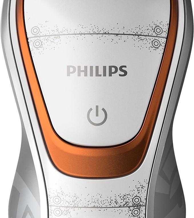 Philips - Afeitadora (Máquina de afeitar de rotación, Oro, Blanco, Batería, Ión de litio, 50 min, 1 h): Amazon.es: Salud y cuidado personal