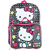 Hello Kitty Kids' 16-inch Hello Kitty Backpack with Matching Lunch Bag