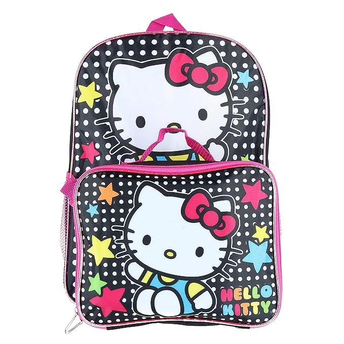 Royal Connextion Hello kitty 16- mochila con bolsa de almuerzo a juego para niñas Talla única Multi: Amazon.es: Ropa y accesorios