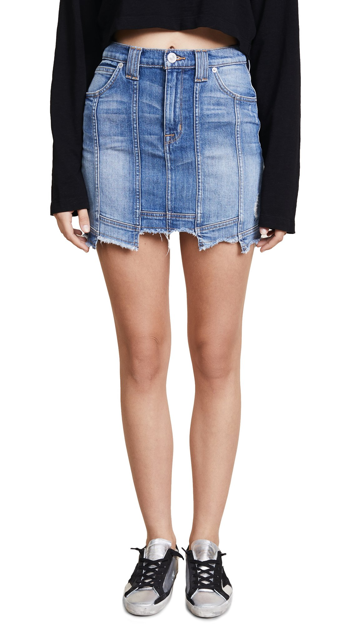 Hudson Jeans Women's Weekender Step Hem Jean Skirt, Frenzy, 25