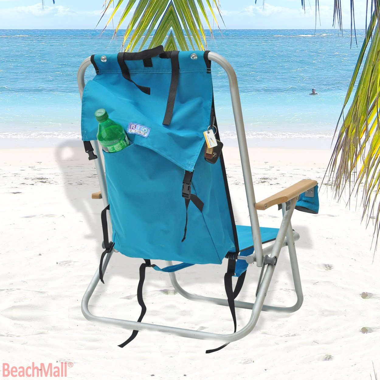 Amazon.com  Deluxe WearEver Rio Aluminum Backpack Chair with Large Storage Pouch  Sports u0026 Outdoors  sc 1 st  Amazon.com & Amazon.com : Deluxe WearEver Rio Aluminum Backpack Chair with Large ...