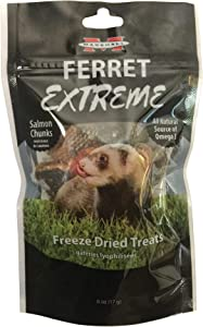 Marshall Ferret Extreme Freeze Dried Treats, 6 Ounces, Salmon Flavor, Model Number: 572043