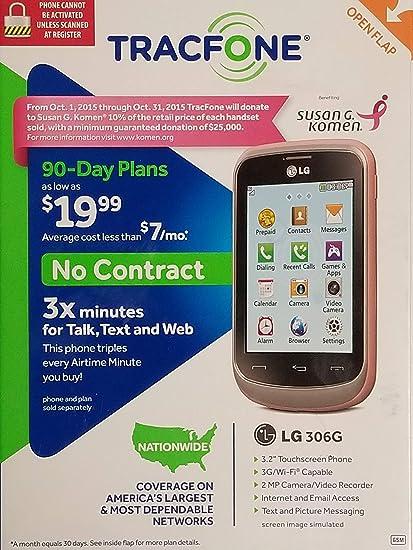 2ee95ce748a Amazon.com  Susan G. Komen LG TracFone 306G No Contract