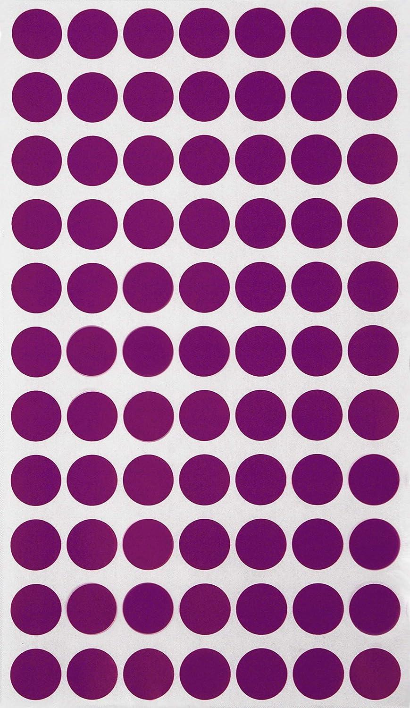 in verschiedenen Farben Gr/ö/ße 1,5 cm Durchmesser Klebepunkte von Royal Green Schwarz, 385 Sticker 15 mm runde Punkt Aufkleber