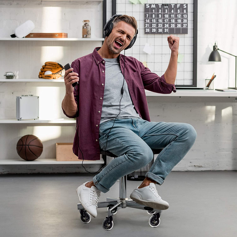 adatte ad ogni tipo di sedia da ufficio//da scrivania ideali per il parquet NOVAATO silenziose e scorrevoli Set di 5 rotelle per sedia da ufficio