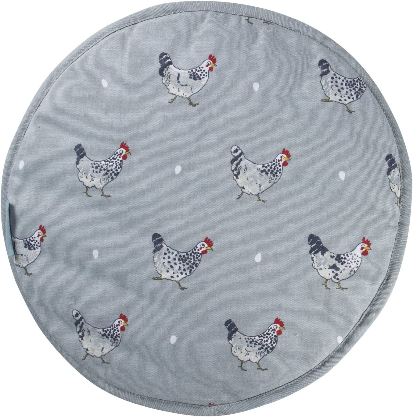 Sophie Allport Hob Cover Round Chickens