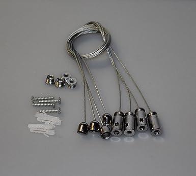 4x Seilabhängung für LED Panel Deckenbefestigung Seil ...
