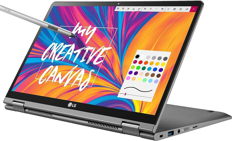 "LG Gram 14T990-U.AAS8U1, 14"" 2-in-1 Ultra-Lightweight Laptop with Intel Core i7 Processor and Wacom Pen, Silver (Renewed)"