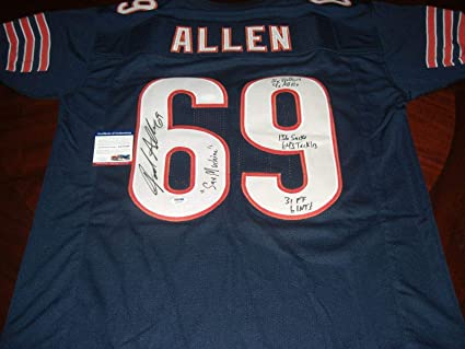 e2ef149a Signed Jared Allen Jersey - vikings Full Stats coa - JSA Certified ...