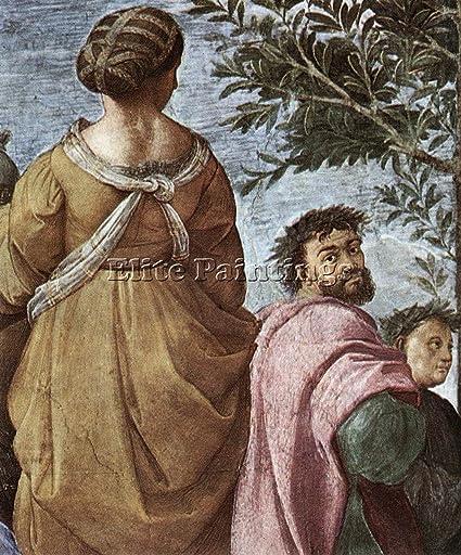 Raphael The Parnassus Detail6 Artiste Tableau Reproduction Huile Toile Peinture 120x100cm Qualite Musee Amazon Fr Cuisine Maison