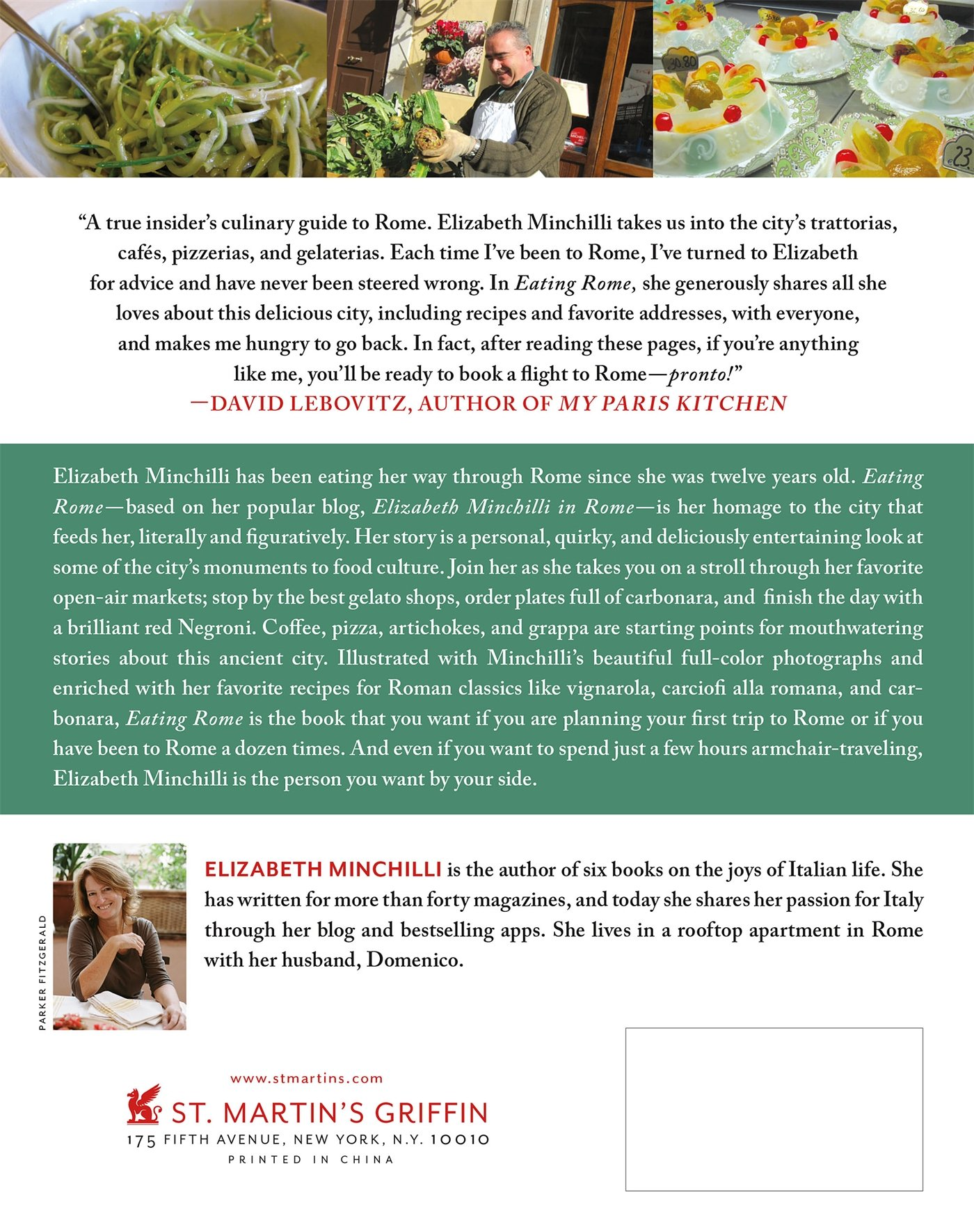 Eating Rome: Living The Good Life In The Eternal City: Elizabeth Minchilli:  9781250047687: Amazon: Books