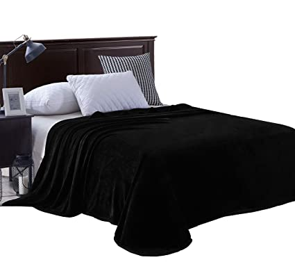 Exclusivo Mezcla Luxury Twin Size Flannel Velvet Plush Solid Bed Blanket as  Bedspread Coverlet  f7569b7fc