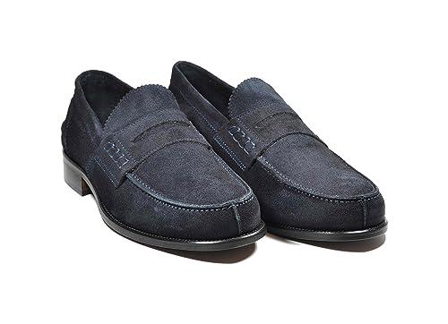 Saxone Of Scotland - Mocasines de Piel para Hombre Azul Turquesa: Amazon.es: Zapatos y complementos