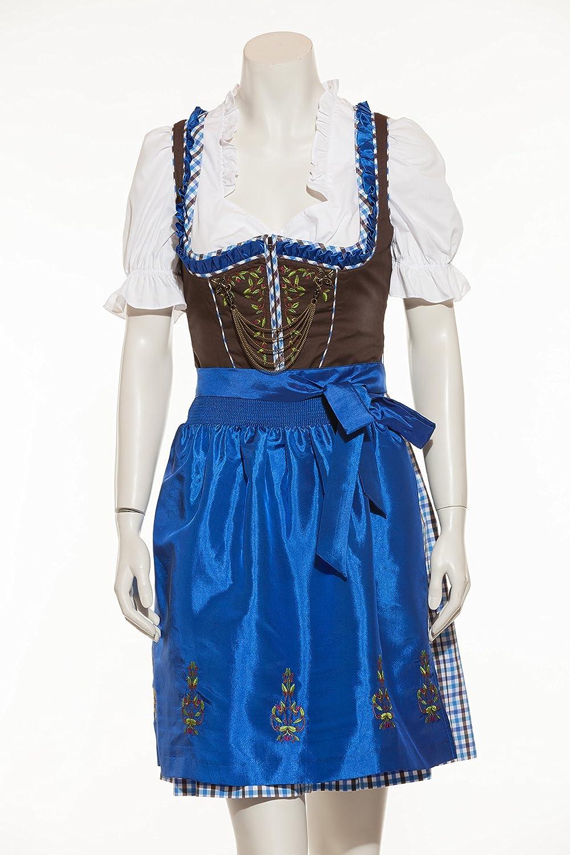 Spieth & Wensky - Dirndl – Mini – Tira - braun/blau/royal