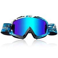Sports de plein air anti-Fog lunettes de ski lentille double-couche lunettes coupe-vent voyage escalade pêche lunettes de soleil pour l'homme et les femmes , black gold