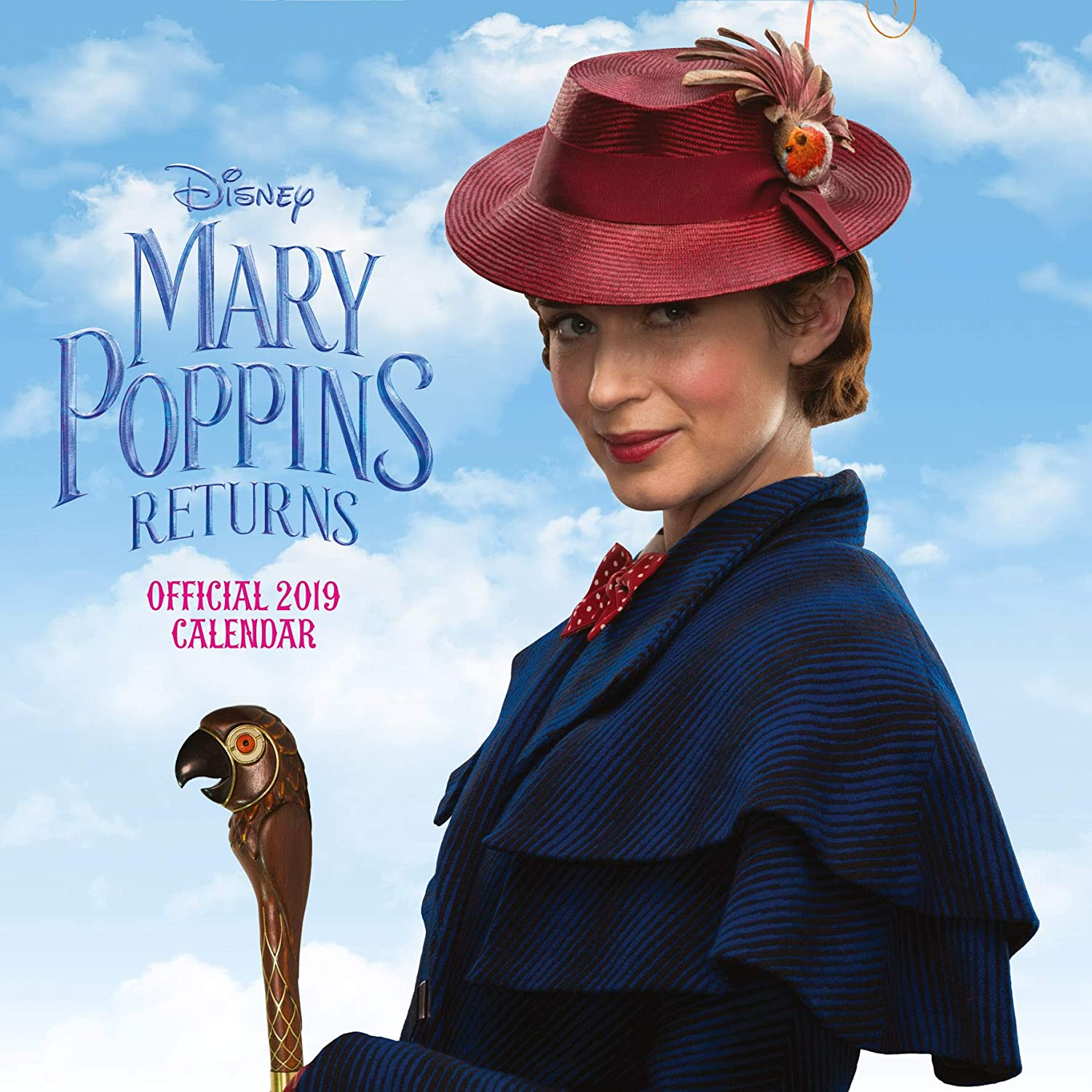 Mary Poppins Returns Official 2019 Calendar - Square Wall Calendar Format