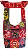 Shangri-La Nook Hobo Hippie Cotton crossbody Bag Handmade in Nepal