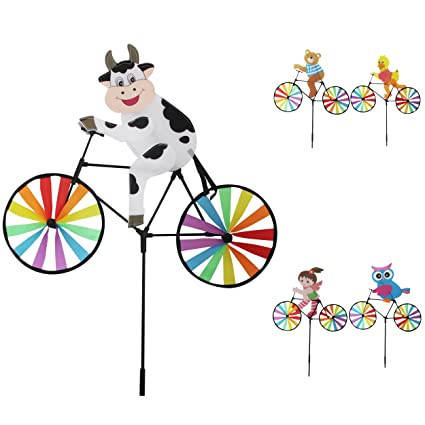 Lot of 6X Animal Bicycle Windmill Wind Spinner Decoration Home Yard Garden Decor