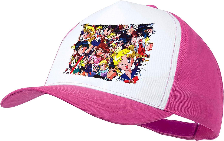 Gorra Rosa Sailor Moon Personajes Anime Color Cap: Amazon.es ...