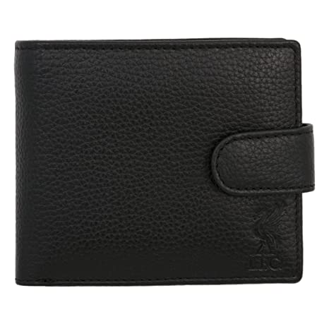 Amazon.com: Liverpool FC LFC Black Leather Fastener Wallet Official: Liverpool FC Official Store