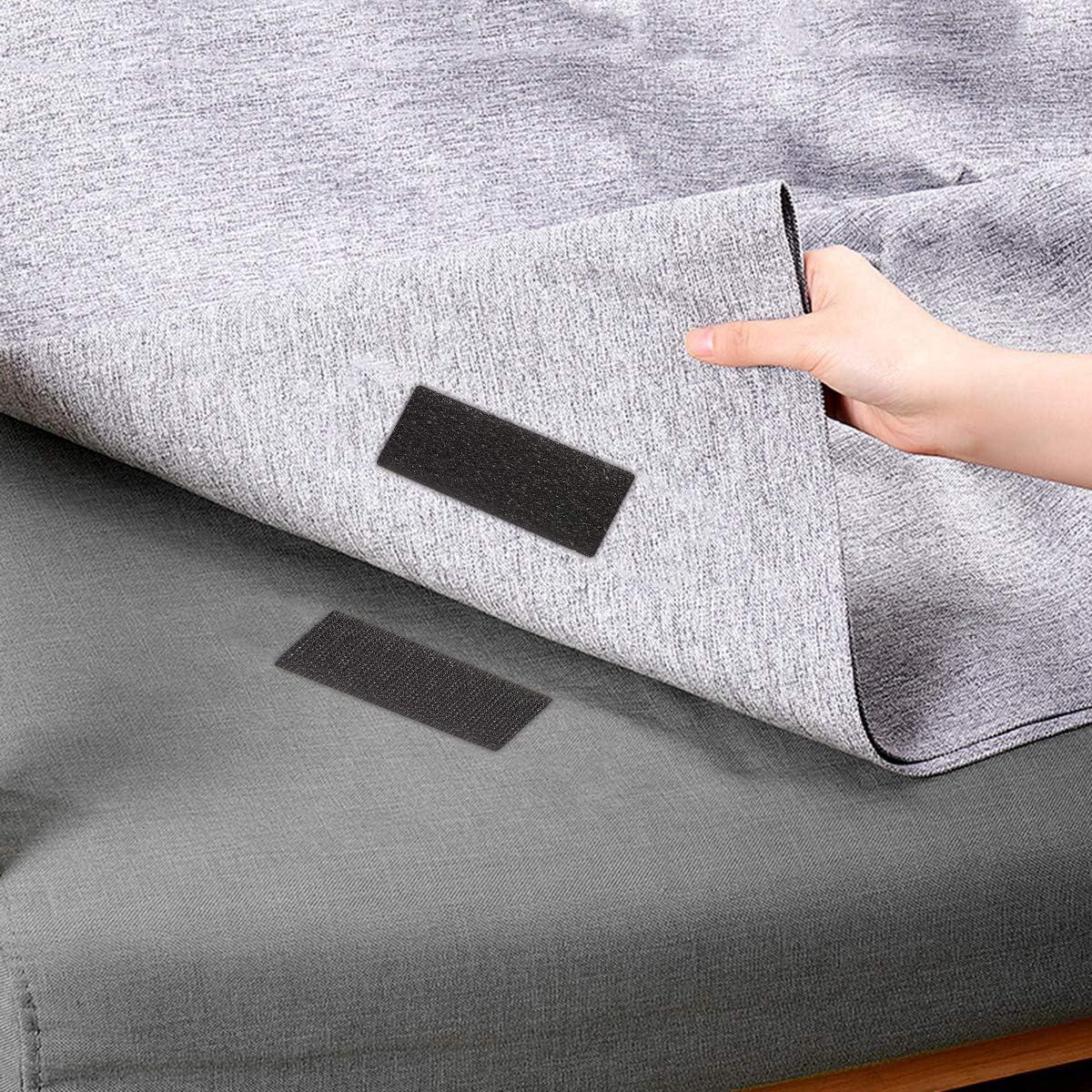 cinta adhesiva de doble cara para interior y exterior JJ PRIME 16 en 1 tira rect/ángulo de gancho y bucle negro