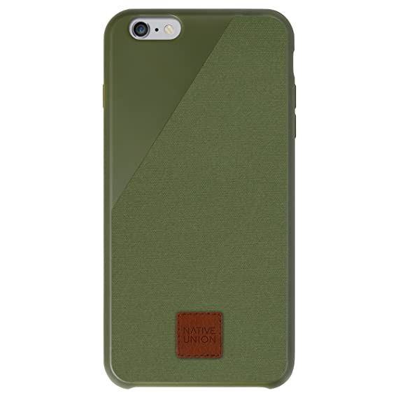 newest b5b53 dcc17 Native Union CLIC 360 Case for iPhone 6 Plus, iPhone 6s Plus - Military  Grade Drop-Proof Protective Cover Made with British Waxed Canvas - Moss  Green